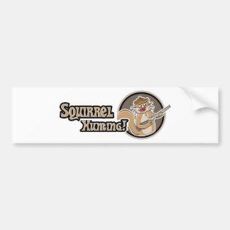 Squirrel Hunting Bumper Sticker