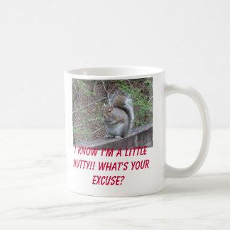squirrel, I know I'm a little nutty!! What's yo... Classic White Coffee Mug