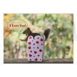 """Squirrel """"I Love You"""" Valentine Card"""