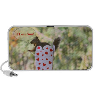 "Squirrel ""I Love You"" Valentine Travelling Speaker"