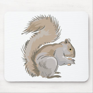 Squirrel Illustration Mouse Pad