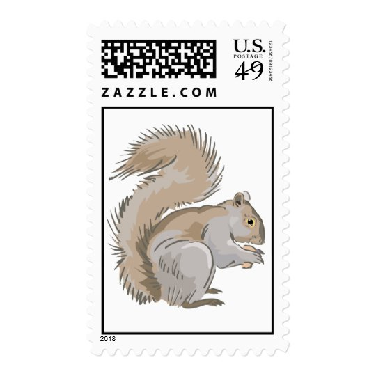 Squirrel Illustration Postage