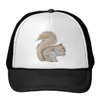 Squirrel Illustration Trucker Hat