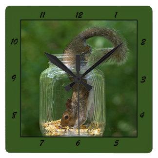 Squirrel in a Jar - Clock
