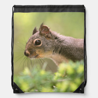Squirrel in a Tree Drawstring Backpack