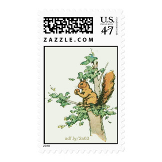 Squirrel In a Tree U.S. Postage Stamps