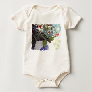 Squirrel in Flower Pot Baby Bodysuit