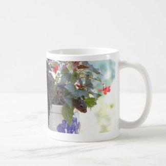 Squirrel in Flower Pot Coffee Mug