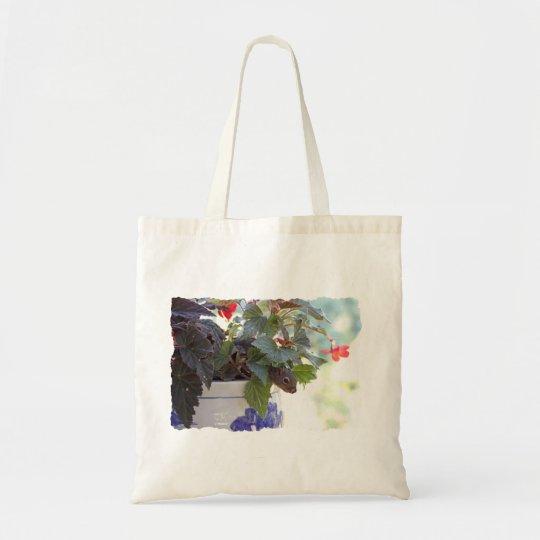 Squirrel in Flower Pot Tote Bag