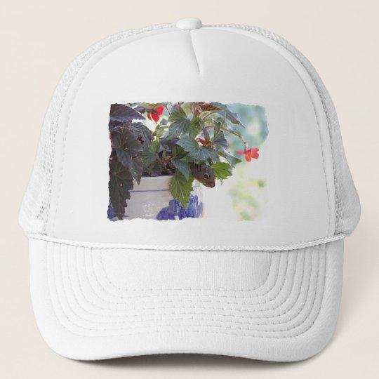 Squirrel in Flower Pot Trucker Hat
