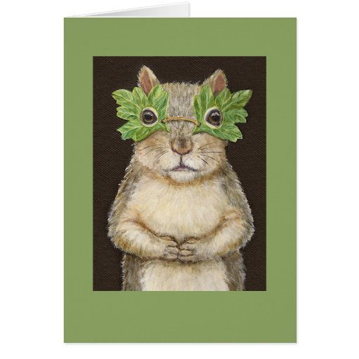 Squirrel in mask card