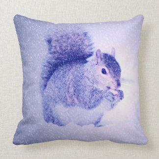 Squirrel in snow pillow