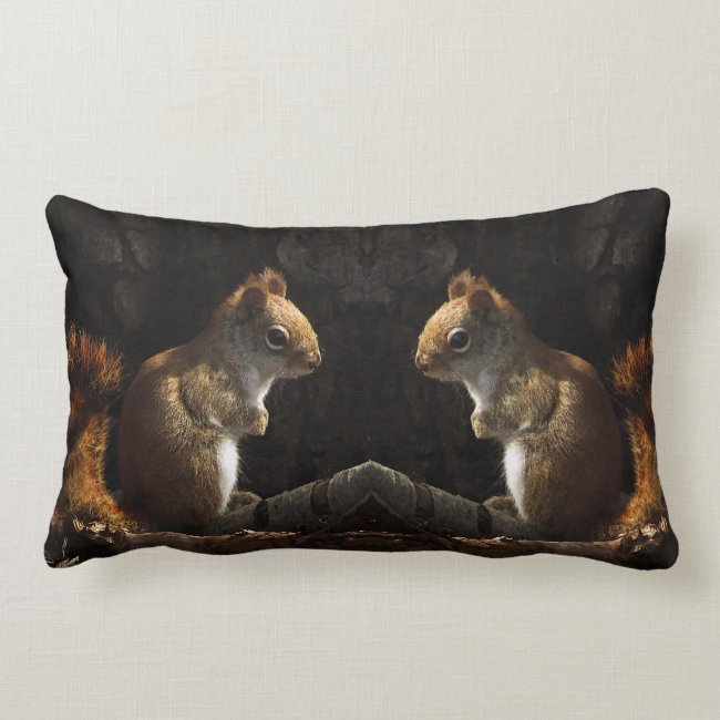 Squirrel in Sunlight Lumbar Pillow