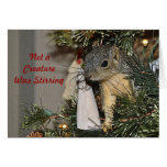 Squirrel in the Christmas Tree Greeting Card