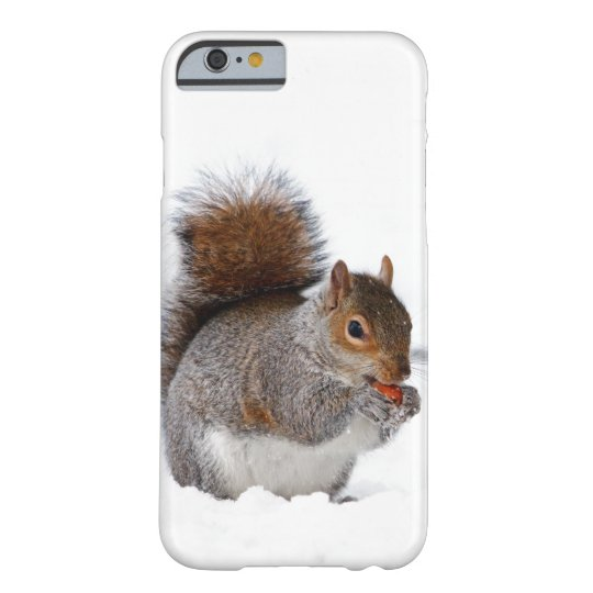 Squirrel in the Snow Barely There iPhone 6 Case