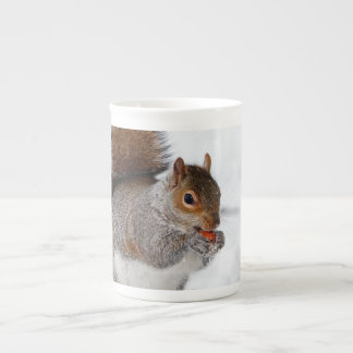 Squirrel in the snow tea cup