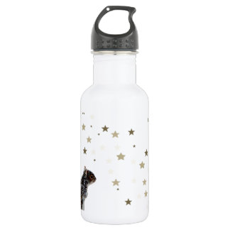 Squirrel in the snow stainless steel water bottle