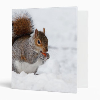 Squirrel in the Winter Binder