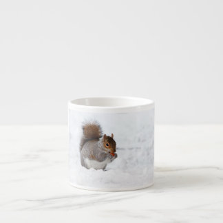 Squirrel in the Winter Espresso Cup