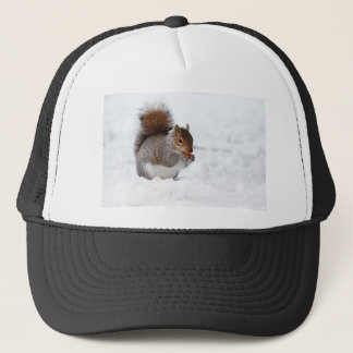 Squirrel in the Winter Trucker Hat