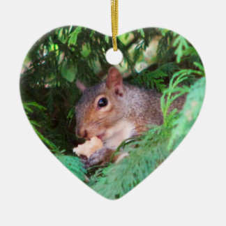 Squirrel In Tree Christmas Ornament