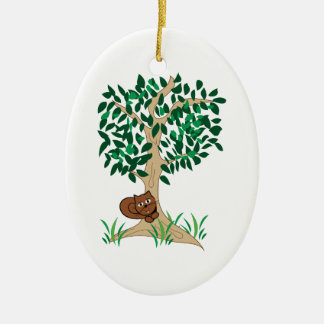 Squirrel In Tree Christmas Ornaments