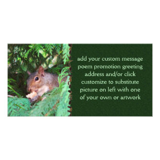 Squirrel In Tree Photo Card Template