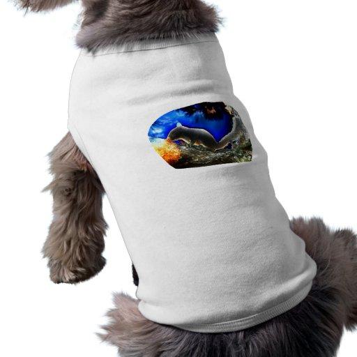 Squirrel In tree Pop Art Style Doggie Shirt