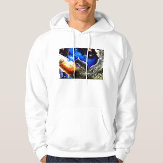 Squirrel In tree Pop Art Style Hooded Pullover