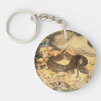 Squirrel In Winter Double-Sided Round Acrylic Keychain