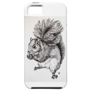 Squirrel Ink Illustration on iPhone 5 Case