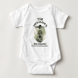 squirrel_invades_DARK LETTERING Baby Bodysuit