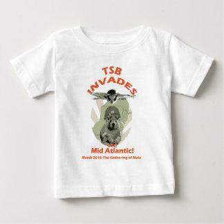 Squirrel Invades Mid Atlantic orange lettering Baby T-Shirt