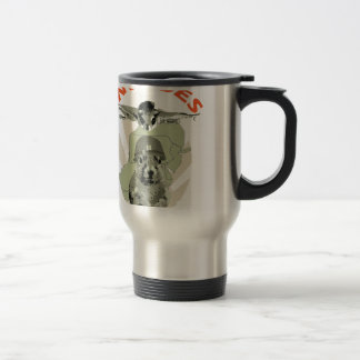Squirrel Invades Mid Atlantic orange lettering Travel Mug