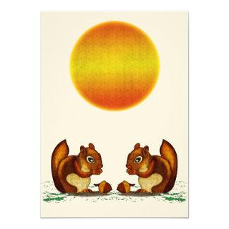 """Squirrel Invitación 5"""" X 7"""""""