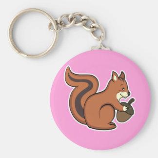 Squirrel keychain pink