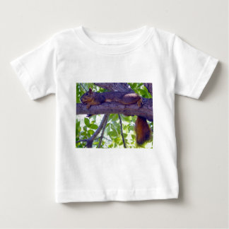 Squirrel laying on a tree branch photo baby T-Shirt