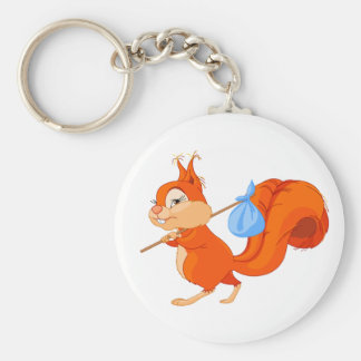 Squirrel Leaving Home Keychain