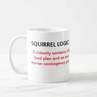 Squirrel Logic Classic White Coffee Mug