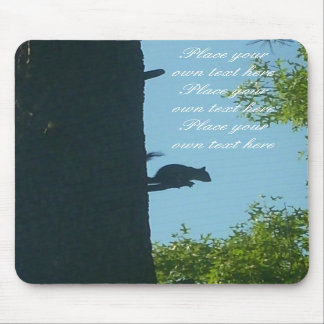 Squirrel Look out customizable mousepad