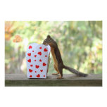 Squirrel Looking Inside Heart Box Photographic Print
