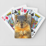 "Squirrel Love_ Bicycle Playing Cards<br><div class=""desc"">A cute squirrel with and expression. Squirrel of love products.</div>"