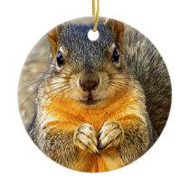 Squirrel Love_ Ceramic Ornament