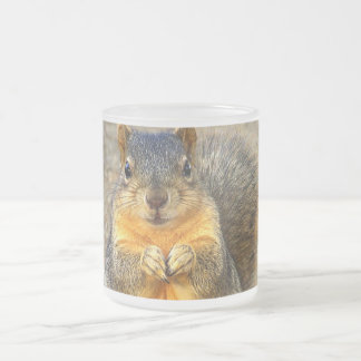Squirrel Love_ Frosted Glass Coffee Mug