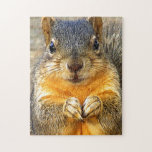 "Squirrel Love_ Jigsaw Puzzle<br><div class=""desc"">A cute squirrel with and expression. Squirrel of love products.</div>"