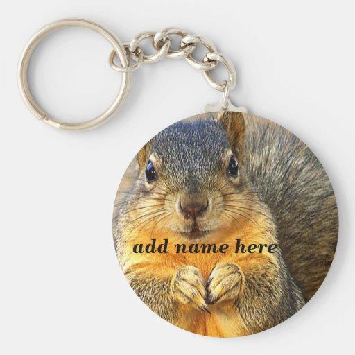 Squirrel Love_ Keychain