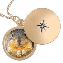 Squirrel Love_ Locket Necklace