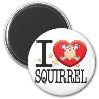 Squirrel Love Man 6 Cm Round Magnet
