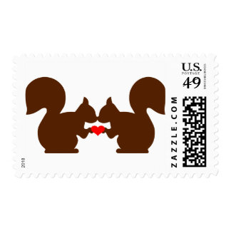 Squirrel love postage