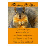 Squirrel Love_ Stationery Note Card